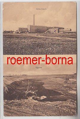 76430 Mehrbild Ak Borna Gewerkschaft Braunkohlenwerke Borna 1916