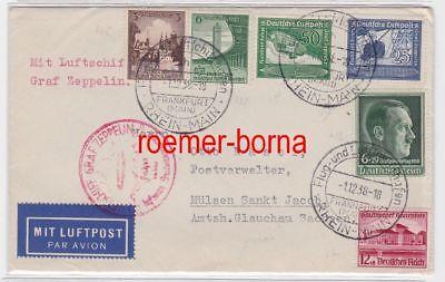 83648 Zeppelin Brief Sudetenlandfahrt 1938