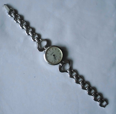 Quarz Damen Armbanduhr Marke Glashütte mit Metallarmband  (100189)