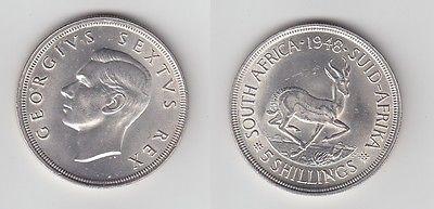 5 Schilling Silber Münze Südafrika Springbock 1948 113078 Nr