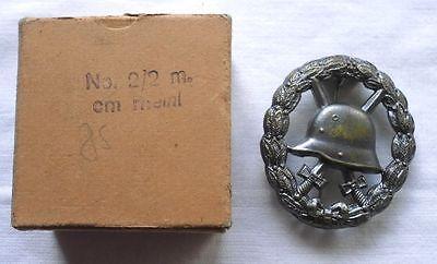 Durchbrochenes Verwundetenabzeichen Silber 1.WK im Originalkarton (103488)