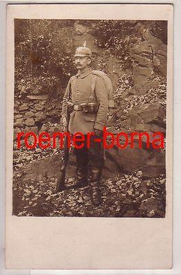 65488 Foto Ak feldgrauer Garde Soldat im Kriegsjahr 1916