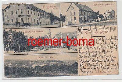 75799 Mehrbild Ak Gruss aus Kayna Bahnhof, Geschäftshaus usw. 1904