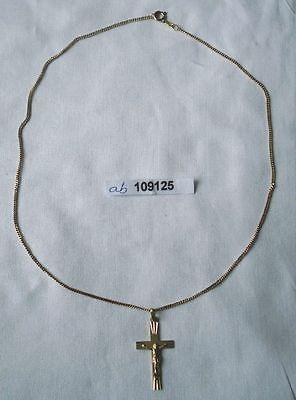 Hübsche Kette 333er Gold mit Anhänger Kruzifix (109125)