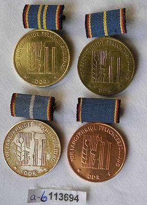4 x DDR Orden Landesverteidigung Gold Silber und Bronze  (113694)