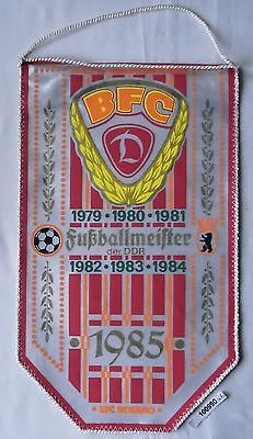 DDR Wimpel Berliner Fussballclub BFC Dynamo Fussballmeister 1979-1985 (100990)