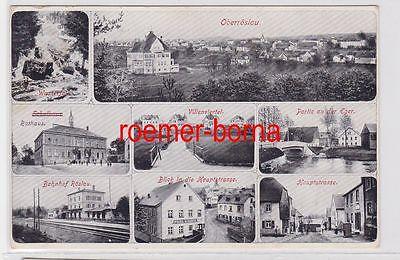 84336 Mehrbild Ak Oberröslau Bahnhof, Hauptstrasse usw. um 1920