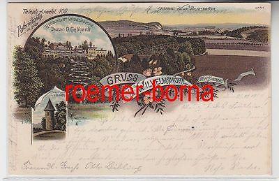 74914 Ak Lithographie Gruss von der Wilhelmshöhe bei Nordhausen 1900