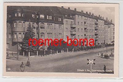 00671 Foto Ak Döbeln i.Sa. Grimmaische Straße um 1940