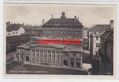 72189 Foto Ak Leipzig Arbeiter-Turn- u. Sportschule um 1930