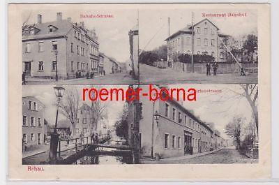83902 Mehrbild Ak Rehau Restaurant Bahnhof usw. 1910