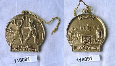 DDR Medaille Festwoche 1000 Jahre Wurzen 961-1961 (118091)