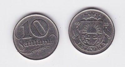 10 Santimu Kupfer Nickel Münze Lettland 1922 117690 Nr