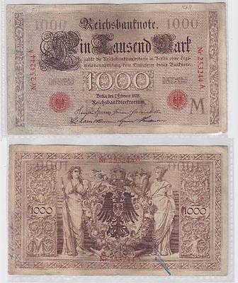 1000 Mark Banknote Kaiserreich Deutsches Reich 7.02.1908 (117575)