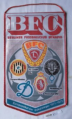 DDR Wimpel Berliner Fussballclub BFC Dynamo Pokalsiegerwettb. 1971-1972 (102328)