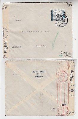 70622 seltener Zensur Post Brief von Ankara Türkei nach Herne in Westf. 1941