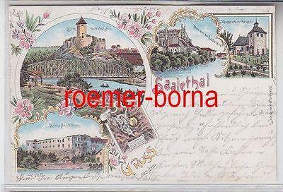 79188 Ak Lithographie Gruss aus dem Saalethal bei Halle 1899