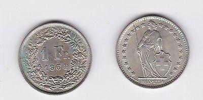 1 Franken Silber Münze Schweiz 1964 117719 Nr 232610343290