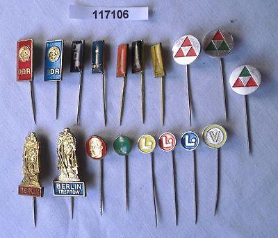 18 x DDR STASI Ministerium für Staatssicherheit Erkennungsabzeichen  (117106)