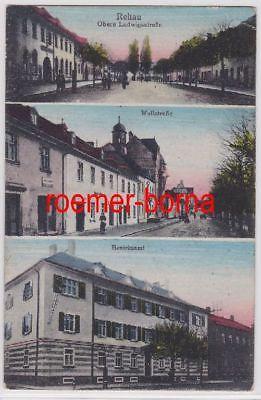 83548 Mehrbild Ak Rehau obere Ludwigstraße, Wallstraße usw. 1919