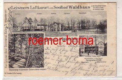 10537 Mehrbild Ak Gruss aus der Dölauer Heide b. Halle S. Soolbad Waldhaus 1899