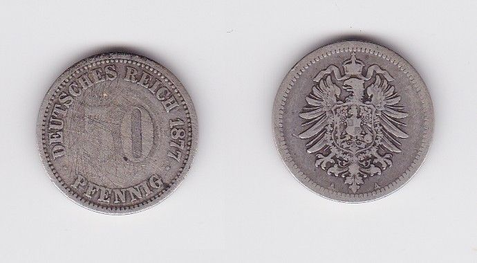 50 Pfennig Silber Münze Deutsches Reich 1877 A 122955 Nr