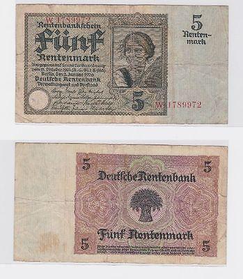 5 Rentenmark Banknote Weimarer Republik 2.1.1926 (117481)