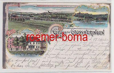 77418 Ak Lithografie Gruss aus Grossheringen Kauf. Baumgarten usw. 1902