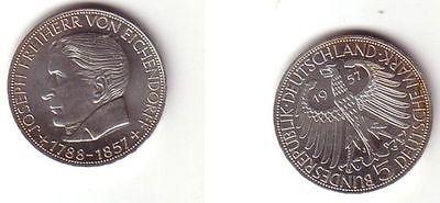 BRD Gedenk Münze 5 Mark Freiherr von Eichendorff 1957 (BN9655)