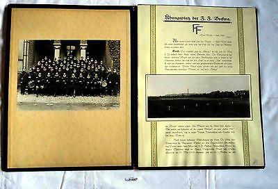 Seltene Mappe Übungsplatz der Freiwilligen Feuerwehr Bockwa 1930 (113357)