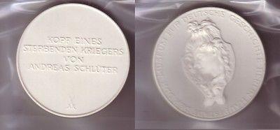 DDR Porzellan Medaille Museum für deutsche Geschichte Berlin, Schlüter (110203)