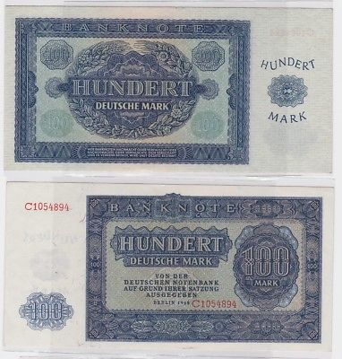 100 Mark Banknote DDR Deutsche Notenbank 1948 (120434)