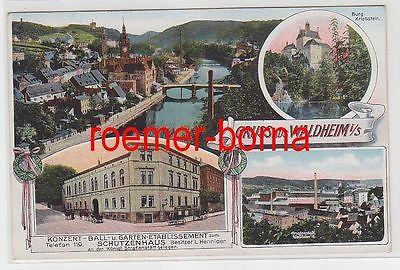 73314 Mehrbild Feldpost Ak Gruss aus Waldheim in Sachsen Schützenhaus 1918