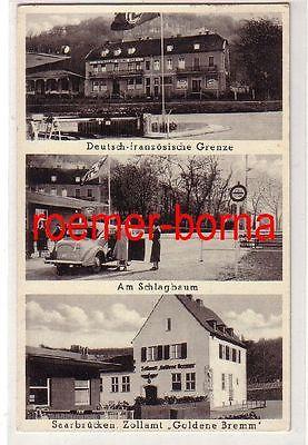 80358 Mehrbild Ak Saarbrücken Zollamt, Dt.-franz. Grenze, Schlagbaum 1939