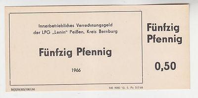 50 Pfennig Banknote DDR LPG Geld
