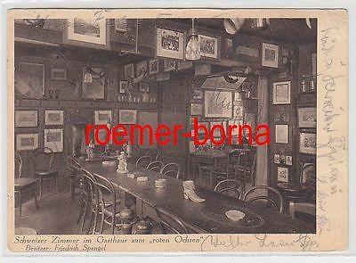 60828 Ak Heidelberg Altberühmtes Studentenlokal Gasthaus zum roten Ochsen 1929