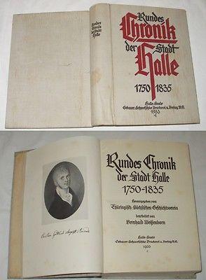 Rundes Chronik der Stadt Halle 1750-1835