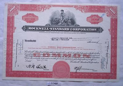 Aktie 100 Dollar Rockwell Standard Corporation Pennsylvania 1960 (117437)