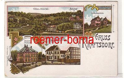 80292 Ak Lithographie Gruss aus Kraftsdorf Restaurant usw. um 1910