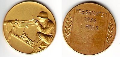 Seltene Medaille Preisrichten 1.Preis 1936 für Maschinengewehrschützen (112117)
