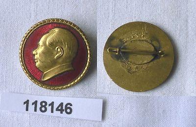 Emailliertes Abzeichen Mao Zedong oder Mao Tse-tung um 1970 (118283)