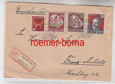 83227 Einschreiben Brief Seyda über Zahna 1951