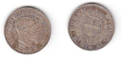 1 Lire Silber Münze Italien 1863 M 116316 Nr 332495618294
