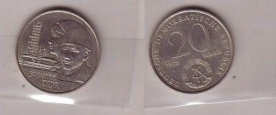 DDR Gedenk Münze 20 Mark 30.Jahrestag der DDR 1979 (112394)