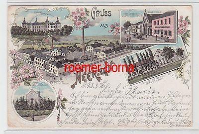72003 Ak Lithografie Gruss aus Neersen Bierbrauerei, Gastwirtschaft usw. 1898