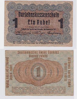 1 Rubel Banknote Ostbank Posen 17.April 1916 (117310)