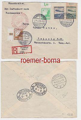 79629 Zeppelin Einschreiben Brief Europa Nordamerika 05051936 Nr
