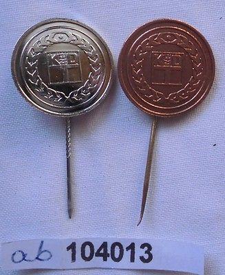 2 x DDR Ehrennadel der Kammer der Technik in Silber und Bronze (104013)