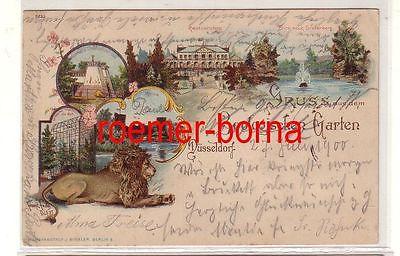 70269 Ak Lithografie Gruss aus dem Zoologischer Garten Düsseldorf 1900