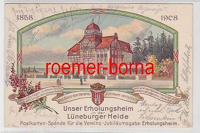 73057 Ak Lithografie Erholungsheim Lüneburger Heide Verein Handlungs-Commis 1908
